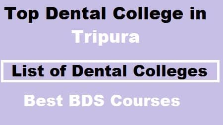 Top Dental colleges in Tripura, Top BDS Colleges in Tripura, Top dental College in tripura