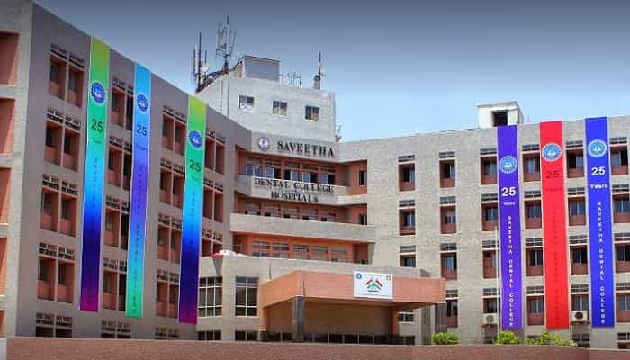 Saveetha Dental College and Hospital Chennai