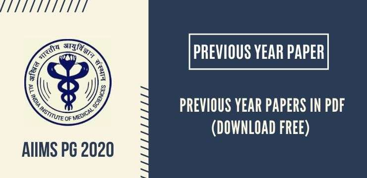AIIMS PG 2020 Previous Year Paper