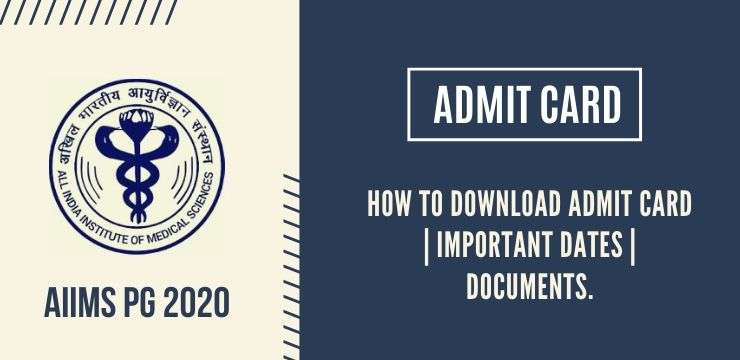 AIIMS PG 2020 Admit Card