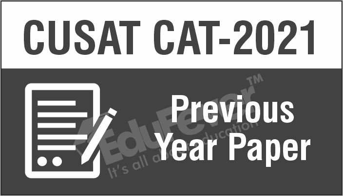 CUSAT CAT Previous Year Paper