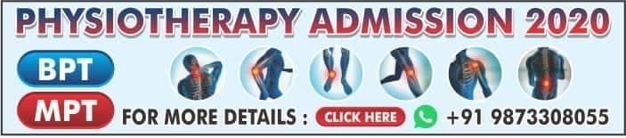 PHYSIOTHERAPY ADMISSION 2020