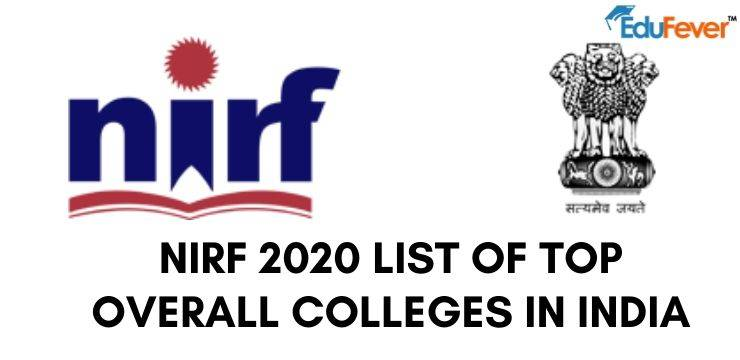 NIRF 2020 List of Top Overall Colleges in India