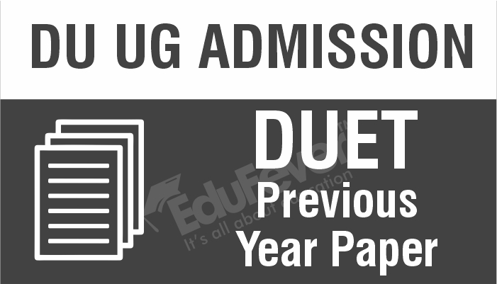 DUET Previous Year Papers