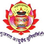 This image has an empty alt attribute; its file name is Gujarat_Ayurved_University_logo.jpg