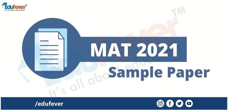 MAT 2021 Sample Paper
